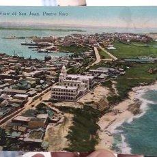 Postales: POSTAL PUERTO RICO BIRD'S EYE VIEW OF SAN JUAN. Lote 135558074