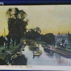 Postales: POSTAL ANTIGUA DE MÉXICO. CANAL DE LA VIGA. SIN CIRCULAR. Lote 137869318
