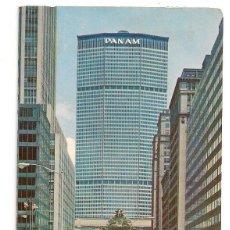 Postales: NUEVA YORK - ESTADOS UNIDOS - EDIFICIO PANAM Y LA ESTACIÓN CENTRAL VISTA DESDE PARK AVENUE - ESCRITA. Lote 138896250