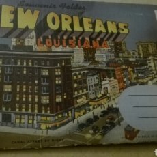 Postales: SOUVENIR GOLDER OF NEW ORLEANS LOUSIANA. Lote 140596586