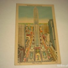Postales: ROCKEFELLER CENTER BUILDINGS. NEW YOROK CITY ,SIN CIRCULAR.. Lote 141568890
