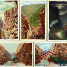 Postales: LOTE 5 POSTALES - ROYAL GORGE, COLORADO, USA - VAN NOY-INTERSTATE CO, DENVER CIRCA 1910. Lote 141933882