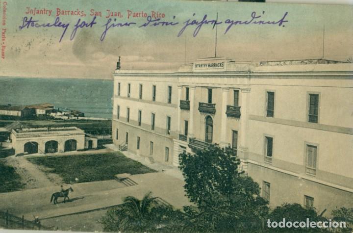 PUERTO RICO SAN JUAN. MILITAR CUARTEL DE INFANTERÍA CIRCULADA EN 1909. (Postales - Postales Extranjero - América)