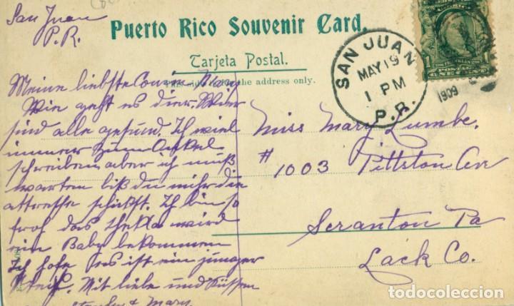 Postales: PUERTO RICO SAN JUAN. MILITAR CUARTEL DE INFANTERÍA CIRCULADA EN 1909. - Foto 2 - 142158126
