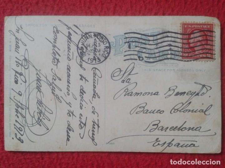 Postales: TARJETA POSTAL POST CARD CARTE POSTALE SAN JUAN PORTO PUERTO RICO USA END OF CITY AND HARBOR VER FOT - Foto 2 - 142377454
