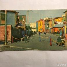 Postales: BUENOS AIRES. (ARGENTINA) POSTAL BARRIO DE LA BOCA. CALLE CAMINITO EDITA: ED. BELLA VISTA (H.1950?). Lote 143722925