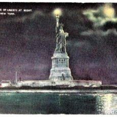 Postales: POSTAL ORIGINAL,ESTATUA DE LA LIBERTAD,AÑO 1915,EN EL PUERTO DE NEW YORK,SIN CIRCULAR,RARA. Lote 144828146