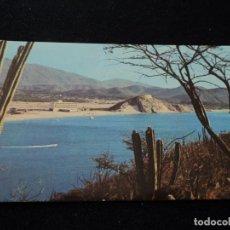 Postales: SANTA MARTA, COLOMBIA, EL RODADERO,AL FONDO HOTEL TAMACA, CIRCULADA 1961. Lote 145351954