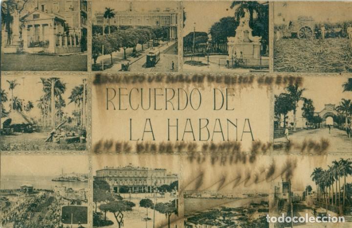 RECUERDO DE LA HABANA. CIRCULADA EN 1907 A BARCELONA. (Postales - Postales Extranjero - América)