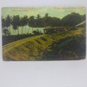 Costa Rica. Ferro Carril del norte de Costa Rica. Cerca de Limón. República de Costa Rica. Trenes