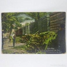 Postales: COSTA RICA. TRANSPORTE DE BANANAS POR TREN. REPÚBLICA DE COSTA RICA.. Lote 147682342