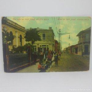 Costa Rica. Una calle de San José. República de Costa Rica.