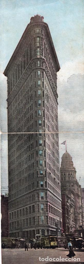 NEW YORK. THE FLATIRON BUILDING 1904. POSTAL TRIPLE (Postales - Postales Extranjero - América)