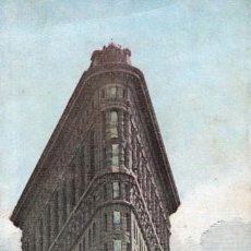 Postales: NEW YORK. THE FLATIRON BUILDING 1904. POSTAL TRIPLE. Lote 147691110