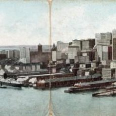 Postales: NEW YORK. EAST RIVER FRONT. POSTAL TRIPLE. Lote 147691438