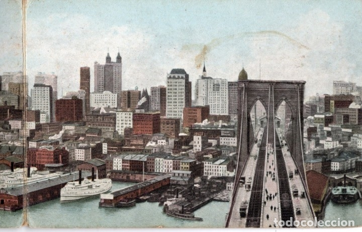 Postales: new york. east river front. postal triple - Foto 2 - 147691438