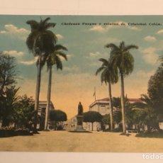 Postales: ANTIGUA POSTAL PARQUE CÁRDENAS Y ESTATUA CRISTOBAL COLON, MÉJICO. Lote 149246782