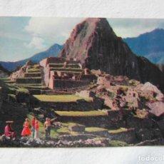 Postales: ANTIGUAS RUINAS INCAS DE MACHU PICCHU, PERU. PAN AMERICAN-GRACE AIRWAYS. SIN CIRCULAR. Lote 151689098