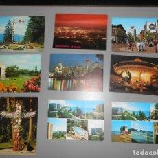 Postales: 9 POSTALES DE CANADÁ. Lote 151966842