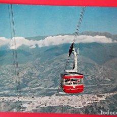 Cartes Postales: MÉRIDA (VENEZUELA). 6 PANORAMA DE LA CIUDAD Y TELEFÉRICO A LA SIERRA NEVADA. USADA CON SELLO. COLOR. Lote 152788177