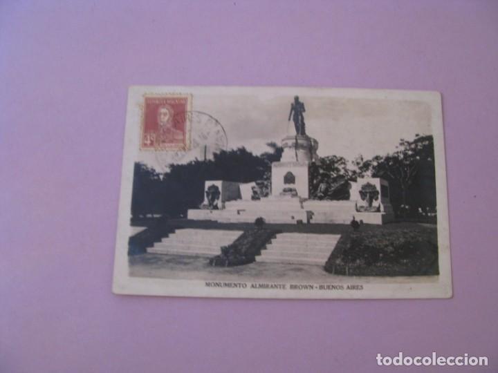 ARGENTINA. BUENOS AIRES. MONUMENTO ALMIRANTE BROWN. 1929. (Postales - Postales Extranjero - América)