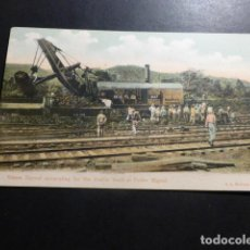Postales: PANAMA OBRAS DEL CANAL STEAM SHOVEL EXCAVATING FOR THE DOUBLE TRACK AT PEDRO MIGUEL REVE SIN DIVIDIR. Lote 153636302