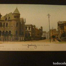 Postales: MEXICO COLONIA JUAREZ CALLE DE BRUSELAS REVERSO SIN DIVIDIR. Lote 155457298