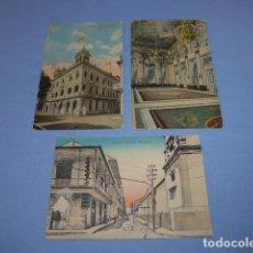 Postales: * LOTE DE 3 ANTIGUA POSTAL DE PRINCIPIOS SIGLO XX DE CUBA Y PANAMA A UN ESPAÑOL, POSTALES. ZX. Lote 155496958