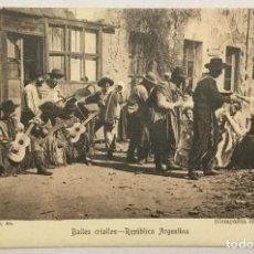 Postales: BAILES CRIOLLOS - REPÚBLICA ARGENTINA. 241 - J. PEUSER, BS. AS. (COMPAÑÍA GERÓNIMO PODESTÁ). . Lote 155630014