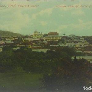 Vista general de San José de Costa Rica. Tarjeta postal. República de Costa Rica