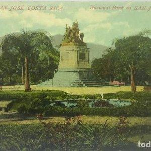 Parque Nacional San José de Costa Rica. Tarjeta postal antigua. República de Costa Rica