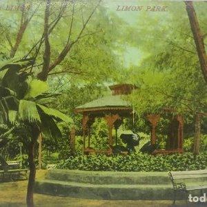 Parque de Limon. Tarjeta postal antigua. República de Costa Rica