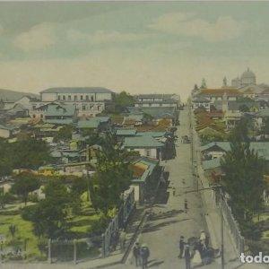 San José. Costa Rica. Parte este. Tarjeta postal antigua. República de Costa Rica