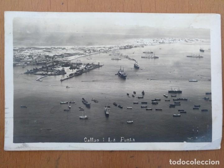 POSTAL CALLAO Y LA PUNTA LIMA (PERU) CIRCULADA 1930 14 X 9 CM (APROX) (Postales - Postales Extranjero - América)