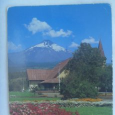 Postales: POSTAL DE PUCON ( CHILE ): VISTA DEL VOLCAN VILLARRICA DESDE LA PLAZA. CIRCULADA A SEVILLA . Lote 161530586