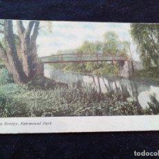 Postales: ANTIGUA POSTAL ESCRITA DE TROLLEY BRIDGE, FAIRMOUNT PARK, PHILADELPHIA?. Lote 163109742