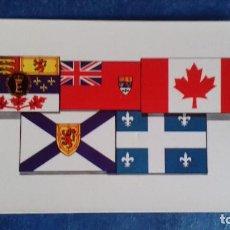 Postales: SERIE QUEEN AND PEOPLE 50. FLAGS OF CANADA / BANDERAS DE CANADÁ. PRESCOTT PICKUP & CO. SIN CIRCULAR. Lote 163977230