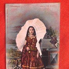 Postales: ANTIGUA POSTAL DE MEXICO DE 1921 INDIA EN TRAJE DE CALLE. Lote 164401190