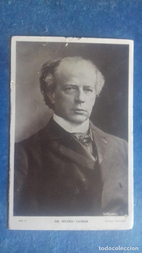 SIR WILFRID LAURIER, PRIMER MINISTRO DE CANADÁ 1896-1911. BEAGLES, 674 T. SIN CIRCULAR. C. 1905. (Postales - Postales Extranjero - América)