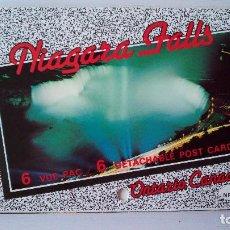 Postales: CTC - TIRA DE 6 POSTALES DE LAS CATARATAS DEL NIAGARA ILUMINADAS - NIAGARA FALLS - ONTARIO - CANADA. Lote 165758114