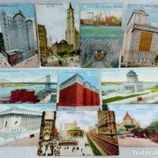 Postales: LOTE 10 ANTIGUAS TARJETA POSTAL COLOREADAS NEW YORK. POST CARD. SIN ESCRIBIR.. Lote 165934078