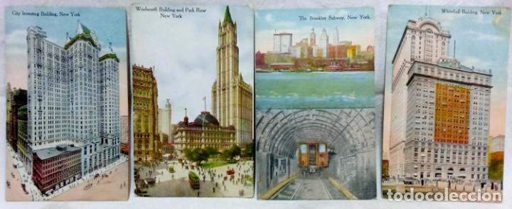 Postales: LOTE 10 ANTIGUAS TARJETA POSTAL COLOREADAS NEW YORK. POST CARD. SIN ESCRIBIR. - Foto 2 - 165934078