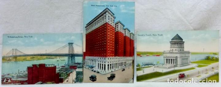 Postales: LOTE 10 ANTIGUAS TARJETA POSTAL COLOREADAS NEW YORK. POST CARD. SIN ESCRIBIR. - Foto 3 - 165934078