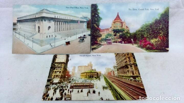 Postales: LOTE 10 ANTIGUAS TARJETA POSTAL COLOREADAS NEW YORK. POST CARD. SIN ESCRIBIR. - Foto 4 - 165934078
