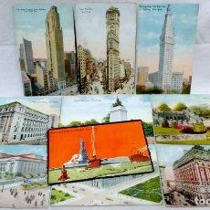 Postales: LOTE 10 ANTIGUAS POSTALES COLOREADAS NEW YORK. POST CARD. SIN ESCRIBIR.. Lote 165952478