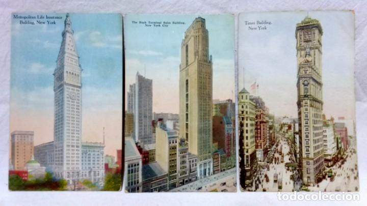 Postales: LOTE 10 ANTIGUAS POSTALES COLOREADAS NEW YORK. POST CARD. SIN ESCRIBIR. - Foto 2 - 165952478