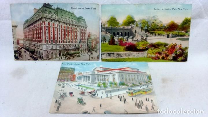 Postales: LOTE 10 ANTIGUAS POSTALES COLOREADAS NEW YORK. POST CARD. SIN ESCRIBIR. - Foto 3 - 165952478