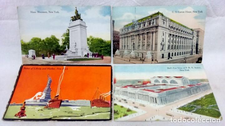 Postales: LOTE 10 ANTIGUAS POSTALES COLOREADAS NEW YORK. POST CARD. SIN ESCRIBIR. - Foto 4 - 165952478