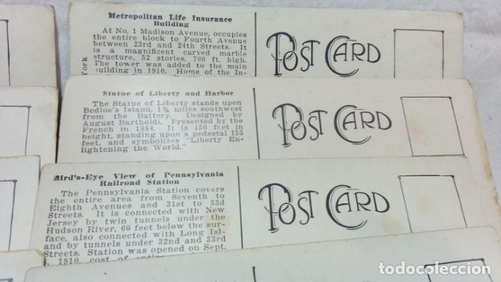 Postales: LOTE 10 ANTIGUAS POSTALES COLOREADAS NEW YORK. POST CARD. SIN ESCRIBIR. - Foto 6 - 165952478