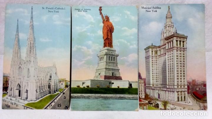 Postales: LOTE 10 ANTIGUAS POSTALES COLOREADAS NEW YORK. POST CARD. SIN ESCRIBIR. - Foto 2 - 165952926